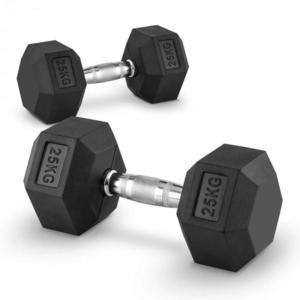 Capital Sports Hexbell 25 Dumbbell, pár jednoručných činiek, 25 kg vyobraziť