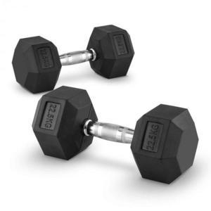 Capital Sports Hexbell 22.5 Dumbbell, pár jednoručných činiek, 22.5 kg vyobraziť