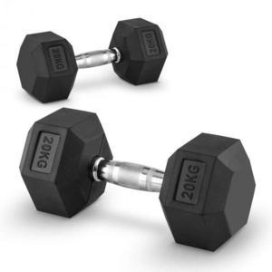 Capital Sports Hexbell 20 Dumbbell, pár jednoručných činiek, 20 kg vyobraziť