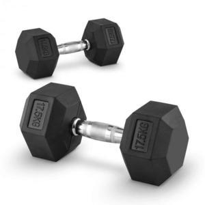 Capital Sports Hexbell 17, 5, 17, 5kg, dvojica krátkoručných činiek (dumbbell) vyobraziť