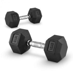Capital Sports Hexbell 15, 15kg, dvojica krátkoručných činiek (dumbbell) vyobraziť