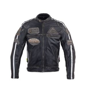 Pánska kožená moto bunda W-TEC Sheawen Vintage čierna - 6XL vyobraziť