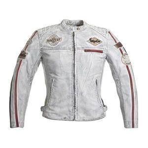 Dámska kožená moto bunda W-TEC Sheawen Lady White biela - 3XL vyobraziť