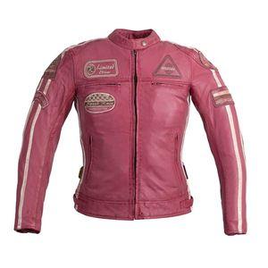 Dámska kožená moto bunda W-TEC Sheawen Lady Pink ružová - 3XL vyobraziť