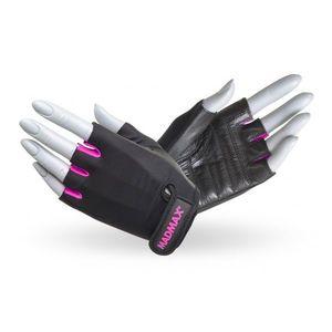 Fitness rukavice MadMax Rainbow čierno-zelená - L vyobraziť
