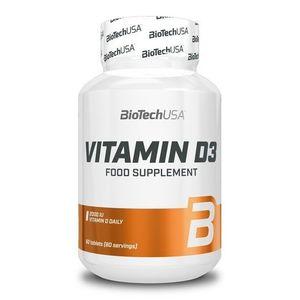 Vitamin D3 tbl. - Biotech USA 60 tbl. vyobraziť