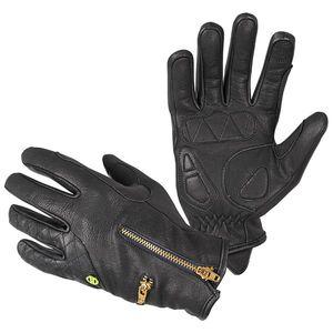 Dámske kožené moto rukavice W-TEC Perchta čierna - XL vyobraziť