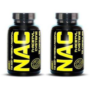 1+1 Zadarmo: NAC (N-acetylcysteine) - Best Nutrition 100 kaps. + 100 kaps. vyobraziť