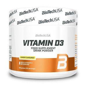Vitamin D3 práškový - Biotech USA 150 g Lemon vyobraziť