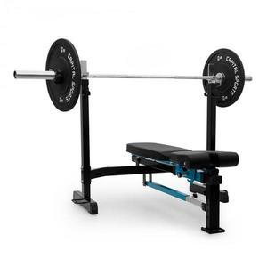 Capital Sports Benchex posilňovacia lavička, šikmá a plochá lavička, zaťažiteľnosť do 250 kg, modrá farba vyobraziť
