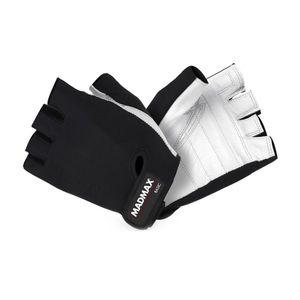 Fitness rukavice MadMax Basic bielo-čierna - XXL vyobraziť