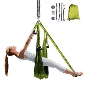 Popruhy na aero jogu inSPORTline Hemmok zelené s držiakmi a lanami vyobraziť