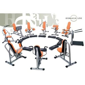 Set 10. strojov Kruhový tréning Hydraulicline - čierna - Záruka 10 rokov + Servis u zákazníka vyobraziť