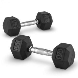 Capital Sports Hexbell 5, 5kg, dvojica krátkoručných činiek (dumbbell) vyobraziť