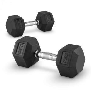 Capital Sports Hexbell 12, 5, 12, 5kg, dvojica krátkoručných činiek (dumbbell) vyobraziť