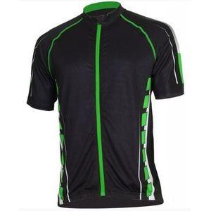 Pánsky cyklistický dres Bizioni MD62 čierna zelená vyobraziť