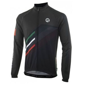 voľnejšie cyklistický dres Rogelli TEAM 2.0 s dlhým rukávom, čierny 001.971. vyobraziť
