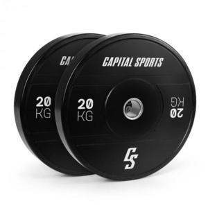 Capital Sports Elongate 2020, kotúče, 2 x 20 kg, tvrdá guma, 50, 4 mm vyobraziť