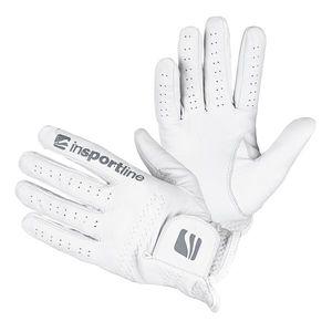 Pánske kožené rukavice inSPORTline Elmgreen krémovo biela - XL vyobraziť