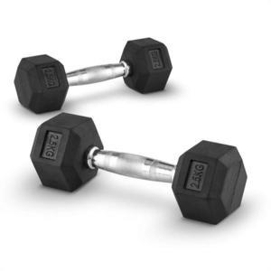 Capital Sports Hexbell 2, 5, 2, 5 kg, jednoručná činka, pár vyobraziť