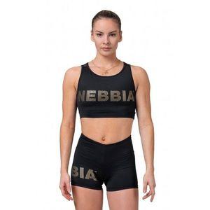 Dámsky mini top Nebbia Gold Mesh 830 Black - M vyobraziť