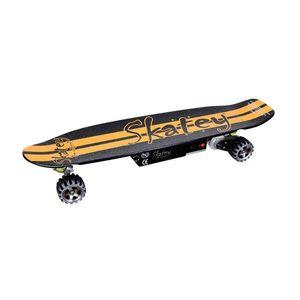 Elektrický longboard Skatey 400 čierno-oranžový vyobraziť