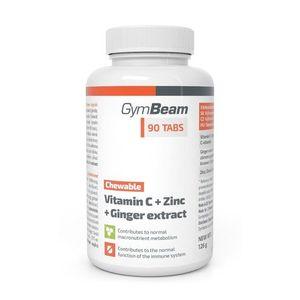 Vitamin C + Zinc + Ginger Extract - GymBeam 90 tbl. vyobraziť