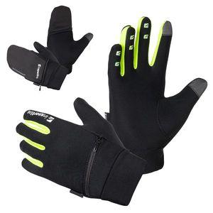 Bežecké rukavice inSPORTline Tibidabo čierna-fluo - 3XL vyobraziť