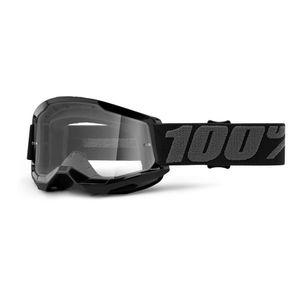 Detské motokrosové okuliare 100% Strata 2 Youth žltá, číre plexi vyobraziť