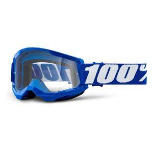 Motokrosové okuliare 100% Strata 2 Everest bielo-čierna, číre plexi vyobraziť