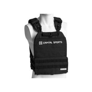Záťažová vesta Capital Sports Battlevest 2.0 2 x 4 kg - čierna vyobraziť
