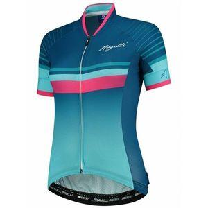 extraľahké dámsky cyklodres Rogelli IMPRESS s krátkym rukávom, modro-ružový 010.160 vyobraziť