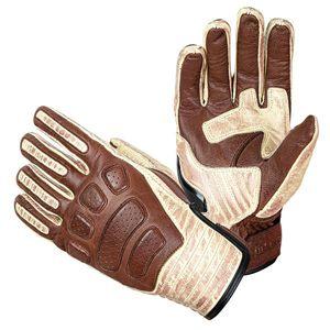 Kožené moto rukavice W-TEC Retro Gloves hnedo-béžová - 4XL vyobraziť