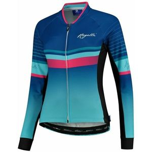 hrejivejšia dámsky cyklodres Rogelli IMPRESS s dlhým rukávom, modro-ružový 010.190 vyobraziť